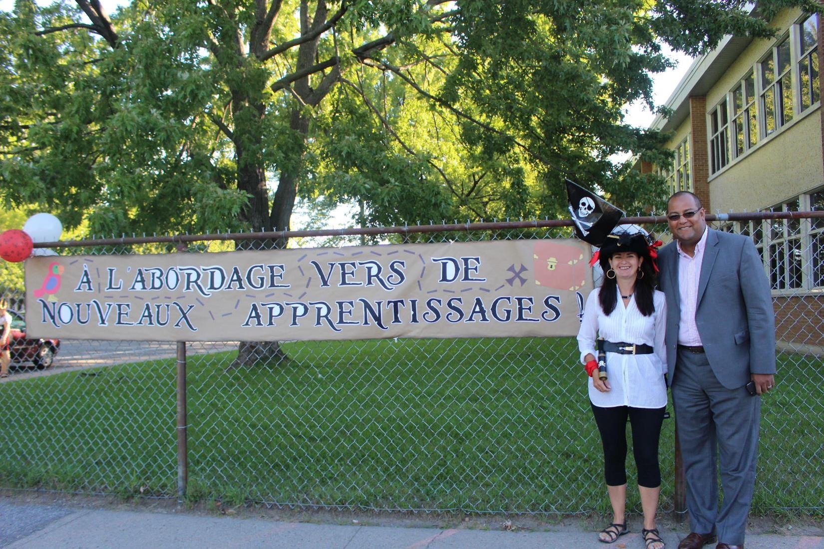 Le député de Laval-des-Rapides prend part aux activités de la rentrée scolaire