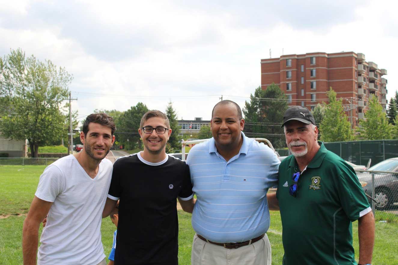 Le joueur de l'Impact, Ignacio Piatti, invité surprise du IV Tournoi de soccer Latino-américain à Laval-des-Rapides