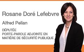 Rosane Doré Lefebvre reçoit des appuis des membres de la communauté